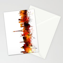 Paris France Skyline Stationery Cards