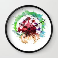 metroid Wall Clocks featuring Metroid Watercolor by Insomniac