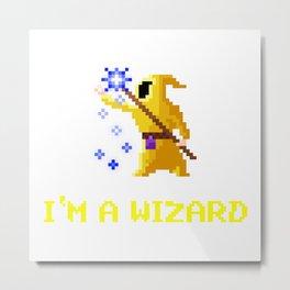 I'm a wizard yellow Metal Print