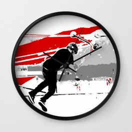 Spinning the Deck - Tail-whip Scooter Stunt Wall Clock