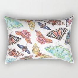 Nature Illustration of Moths Rectangular Pillow