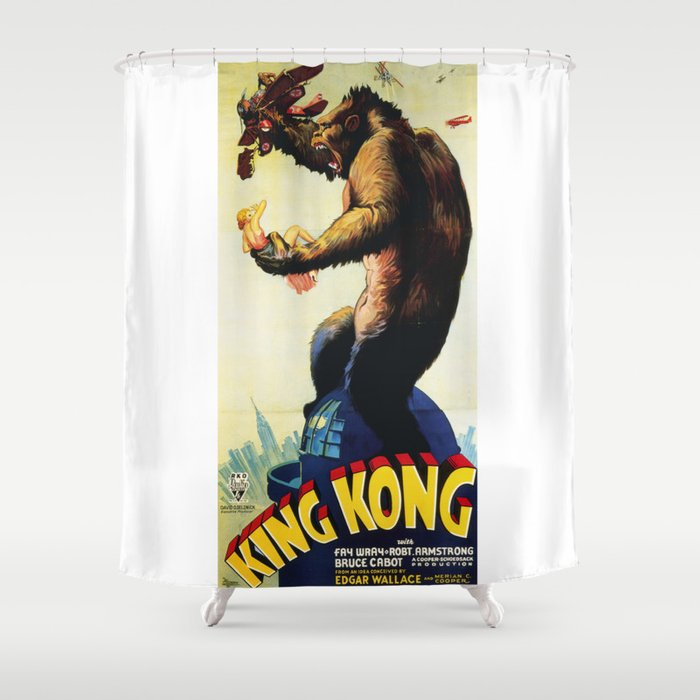 King Kong Vintage Movie Poster Shower Curtain
