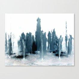 Negative Water Fountain Canvas Print