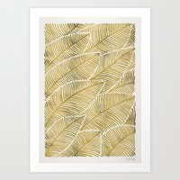 tropical Art Prints featuring Tropical Gold by Cat Coquillette