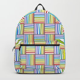 symetric tartan and gingham 20 -vichy, gingham,strip,square,geometric, sober,tartan Backpack