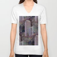 office V-neck T-shirts featuring office Dayze by David  Gough