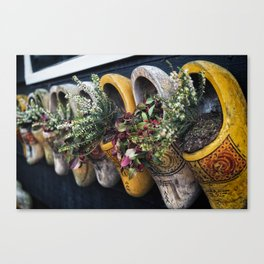 Vintage clog display Canvas Print