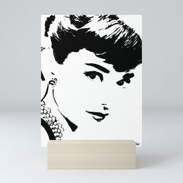 Audrey Simply Beautiful in Black and white Mini Art Print