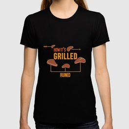 How Its Grilled product   Cook Butcher BBQ Grilling Tee Gift T-shirt