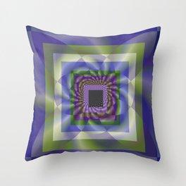 Blue Green Swirl Throw Pillow