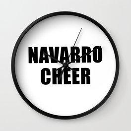 Navarro Cheer Wall Clock