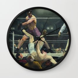 George Bellows - Dempsey and Firpo Wall Clock
