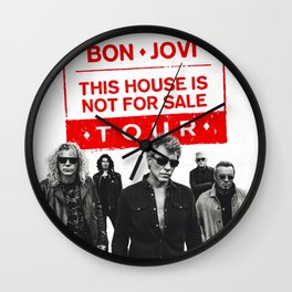 bon jovi this house not for sale album 2019 putro Wall Clock