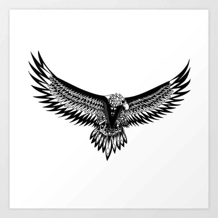 Wild eagle ecopop Kunstdrucke