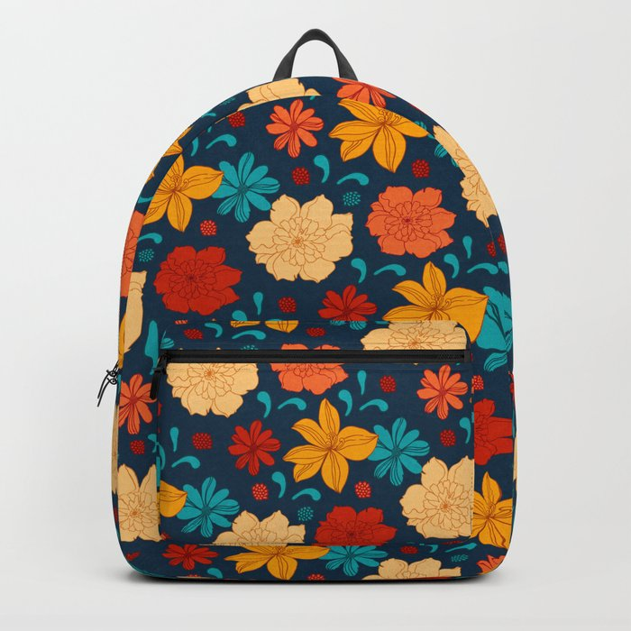 Colorful flower pattern Backpack