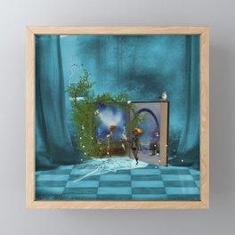 Fairy tale book and cute fairys Framed Mini Art Print