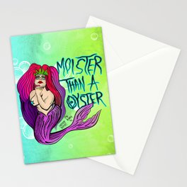 MOISTER THAN A OYSTER Stationery Cards