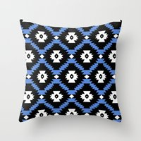 navajo Throw Pillows featuring Navajo by Emma Mazur