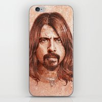 dave grohl iPhone & iPod Skins featuring Dave Grohl by Renato Cunha