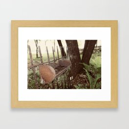 Found Country Fence Framed Art Print