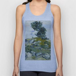 The Rocks by Vincent van Gogh Unisex Tank Top