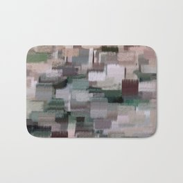 abstract colorful pastel drawing green brown tones Bath Mat