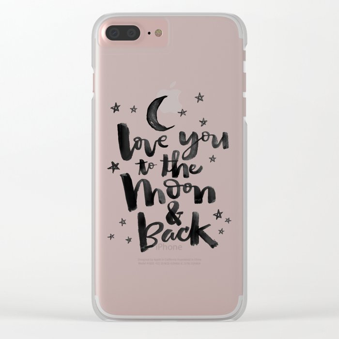 to the moon & back Clear iPhone Case
