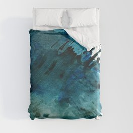 Scenic Route [2]: a pretty, minimal abstract piece in blue and green by Alyssa Hamilton Art Duvet Cover