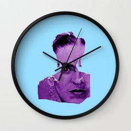 FRIDA - shirt version - blue/purple Wall Clock
