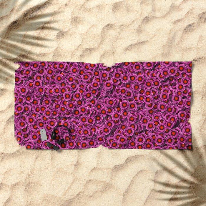 Echinacea Beach Towel