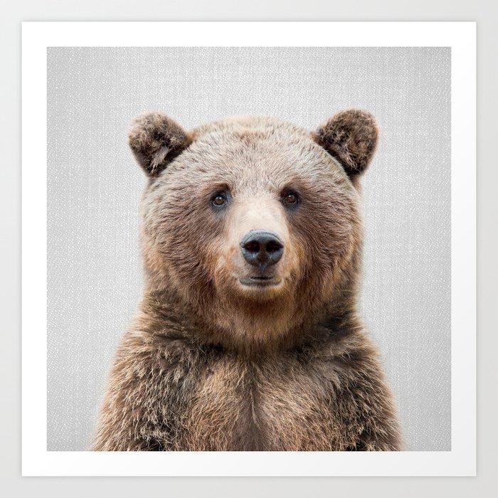 Grizzly Bear - Colorful Kunstdrucke