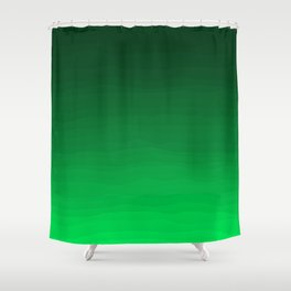 Happy Bright Apple Green Ombre Shower Curtain