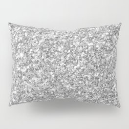 Silver Gray Glitter Pillow Sham