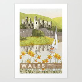 Wales Conwy Castle Art Print