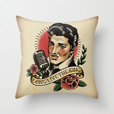 Long Live The King / Elvis Throw Pillow