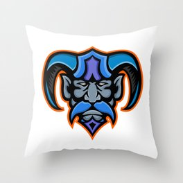 Hades Greek God Head Mascot Throw Pillow