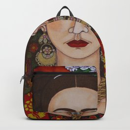 Frida with butterflies Backpack