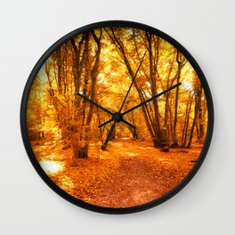 Forest Warmth of Mead Dreams Wall Clock