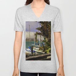 Tropical Morro Bay Unisex V-Neck