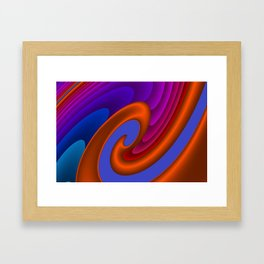 sweeping lines for your home -7- Framed Art Print
