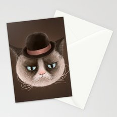 Sad cat Stationery Cards