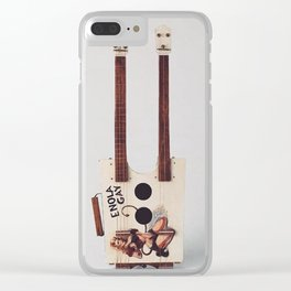Blonde Bombshell Cigar Box Clear iPhone Case