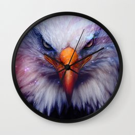 American Flag & Eagle Wall Clock
