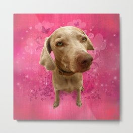 PARKER POSEY (strawberry) puffy cloud series Metal Print