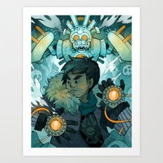 Aztec Gundam Art Print