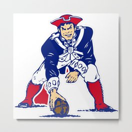 New England Patriot Old Metal Print