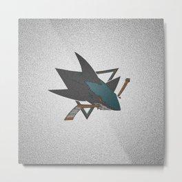 Sharks Logo Metal Print