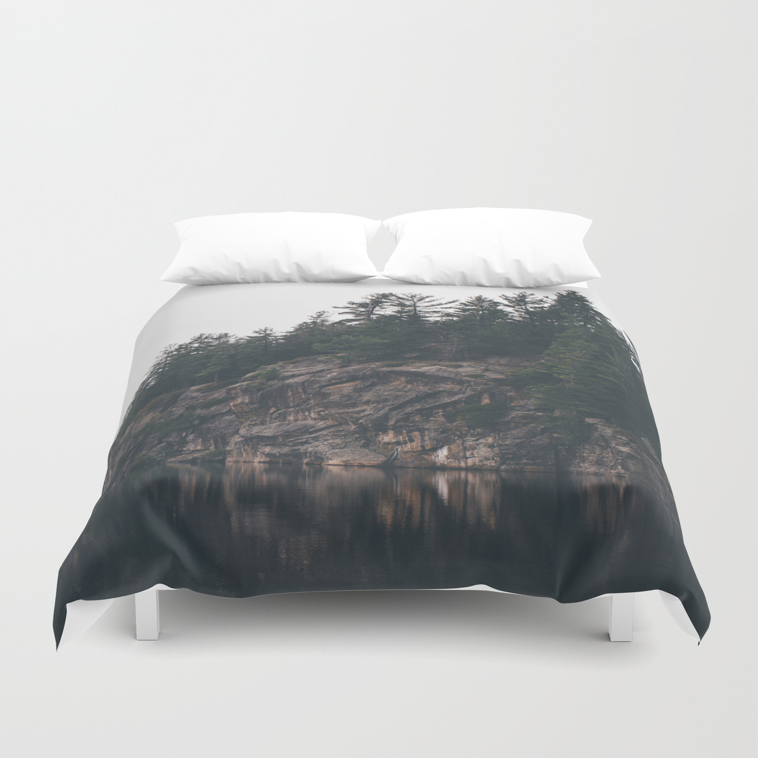 Picto Bay Duvet Cover By Sambarkwell Society6