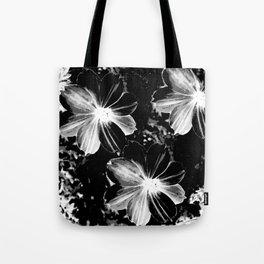 Black Flowers Tote Bag