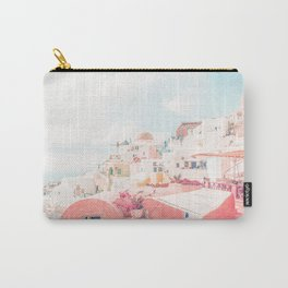 Mamma Mia Greece Pink Streets Old Village photography Carry-All Pouch